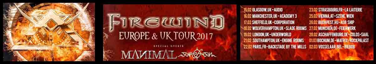 Firewind Europe & UK Tour 2017!!!